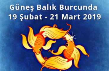 Güneş Balık Burcunda 19 Şubat – 21 Mart 2019