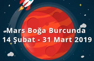 Mars Boğa Burcunda 14 Şubat – 31 Mart 2019