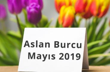 Aslan Burcu Mayıs 2019