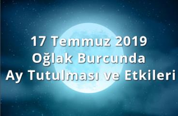 17 Temmuz 2019 Oğlak Burcunda Ay Tutulması ve Etkileri