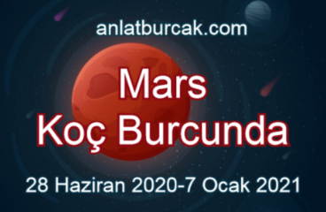 Mars Koç Burcunda 28 Haziran 2020-7 Ocak 2021
