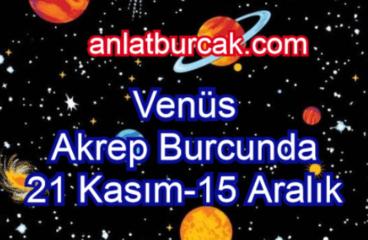 Venüs Akrep Burcunda 21 Kasım-15 Aralık 2020