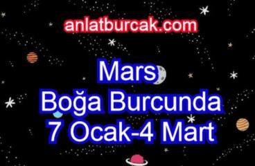 Mars Boğa Burcunda 7 Ocak-4 Mart 2021