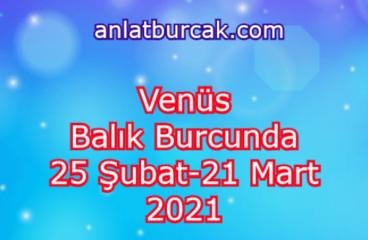 Venüs Balık Burcunda 25 Şubat-21 Mart 2021