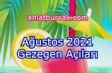 Ağustos 2021 Gezegen Açıları