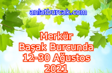 Merkür Başak Burcunda 12-30 Ağustos 2021