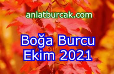 Boğa Burcu Ekim 2021